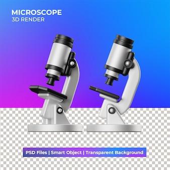 3d-mikroskop-illustration isoliert Premium PSD