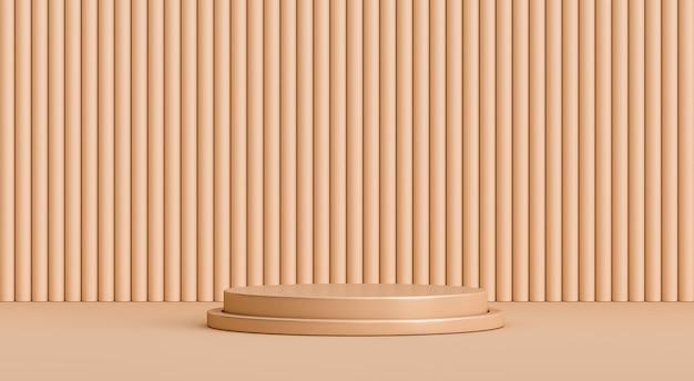 3d minimaler abstrakter hintergrund rendern podium
