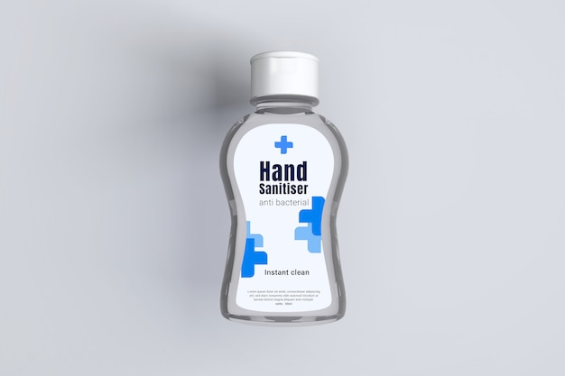 3d-modell des transparenten plastikflakons des händedesinfektionsgels