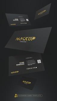 3d-modell schwarze visitenkarte