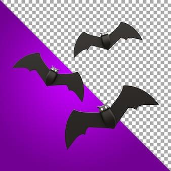 3d-modellierung von fledermaus-halloween-asset