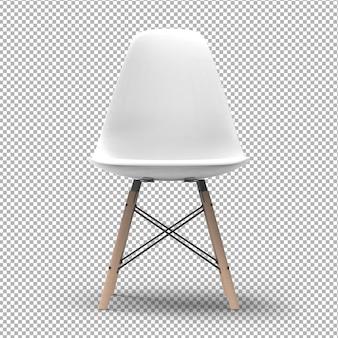 3d moderner stuhl isoliert