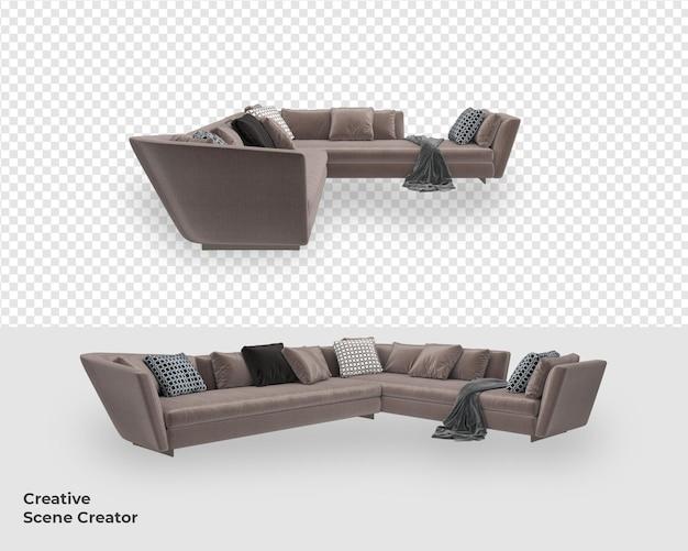 3d-möbelsofa-dekoration mit modernem design