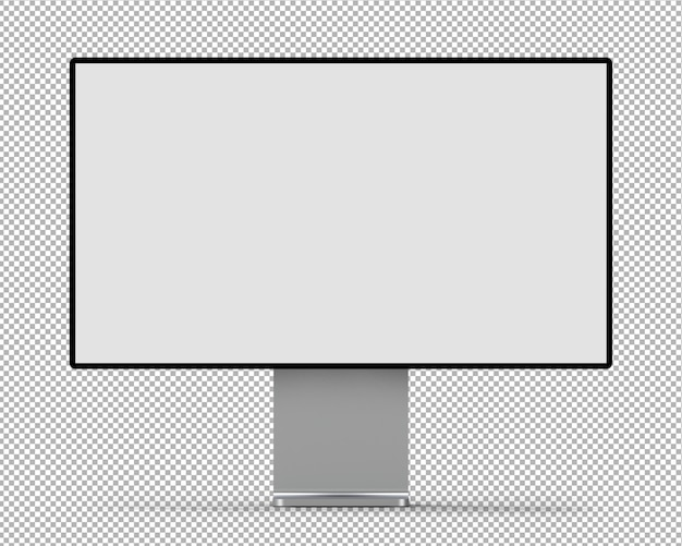 3d-monitor isoliert.