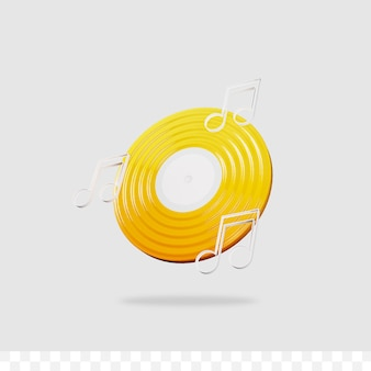 3d-musiksymbol Premium PSD