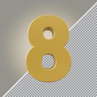3d nummer 1 goldener luxus