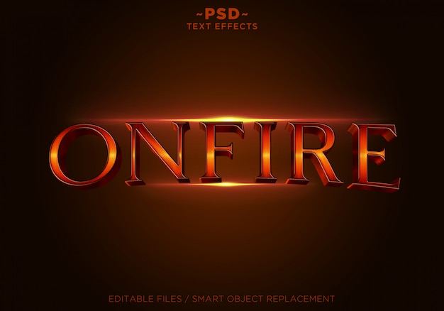 3d onfire style effects vorlage text