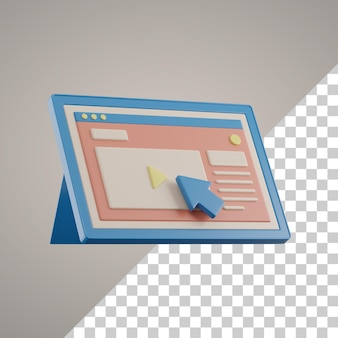 3d online-lernen auf dem tablet