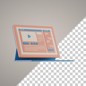 3d online-lernen auf tablet-pc
