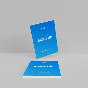 3d paper book mockup isoliert