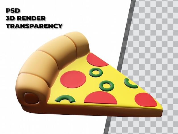 3d-pizza mit transparentem hintergrund