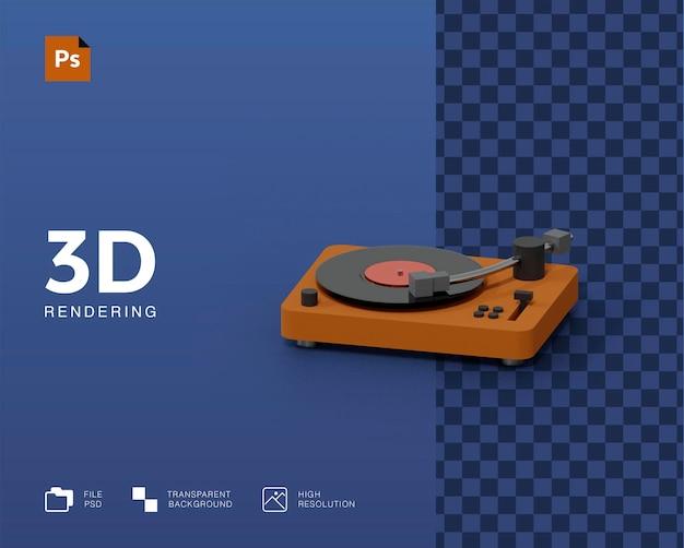 3d-plattenspieler-darstellung