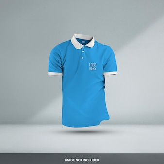3d polo t shirt mockup design isoliert