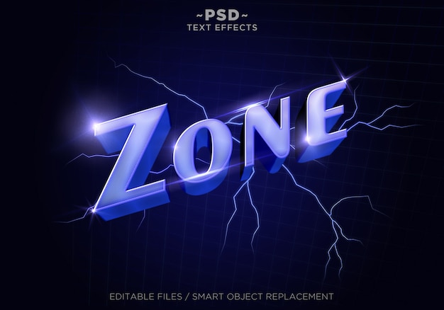 3d purplezone vapor style effekte bearbeitbarer text