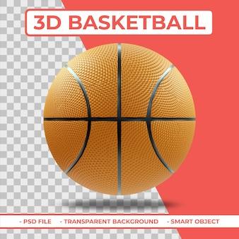 3d realistische basketball 3d-rendering isoliert