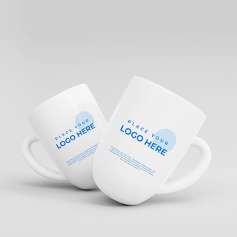 3d realistisches ciramic cup mockup