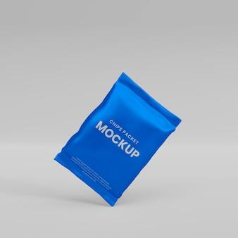 3d realistisches folienpaket-modell