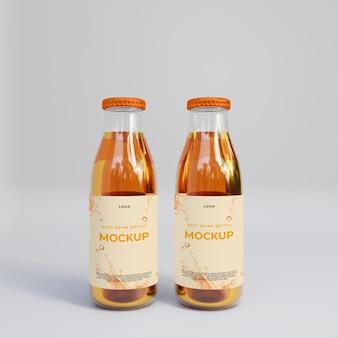 3d realistisches glas saftflaschenmodell