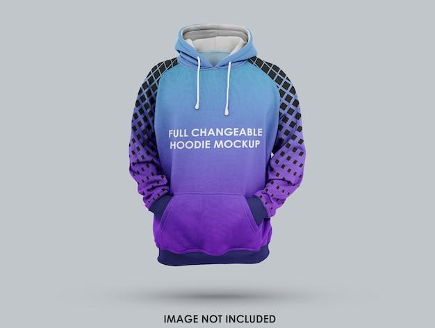 3d realistisches hoodie-modell isoliert