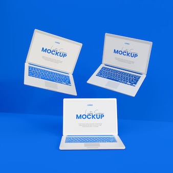 3d realistisches laptop-mockup isoliert
