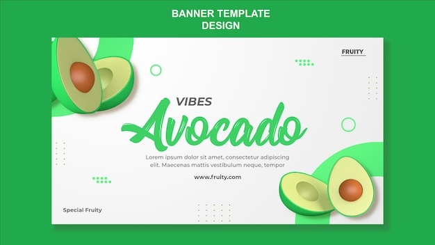 3d-render-avocado-banner-vorlagendesign