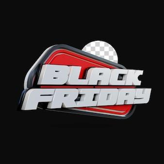 3d render black friday design Premium PSD