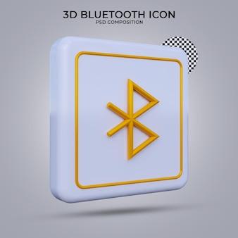 3d-render-bluetooth-symbol isoliert Premium PSD