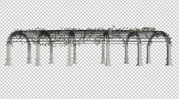 3d-render-efeu-pflanzen isoliert auf weiß