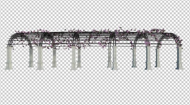 3d-render-efeu-pflanzen isoliert