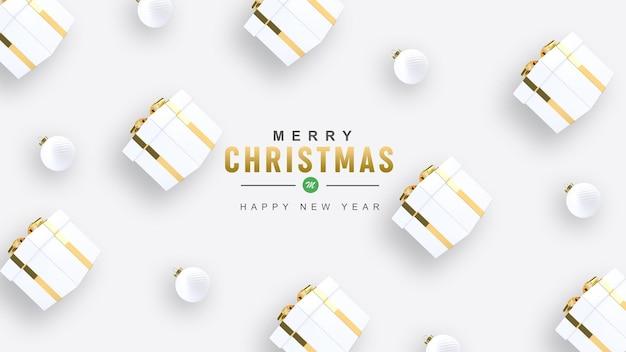 3d render frohe weihnachten und ein gutes neues jahr
