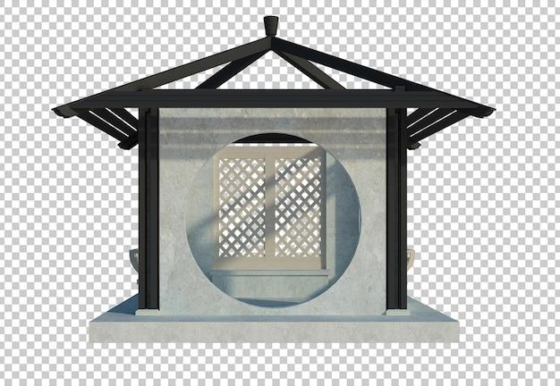 3d-render-gebäudestruktur auf isoliert