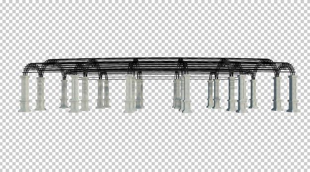 3d-render-gebäudestruktur isoliert