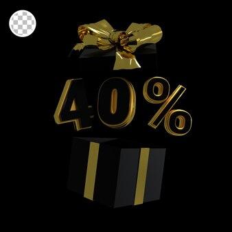 3d-render gold 40 prozent