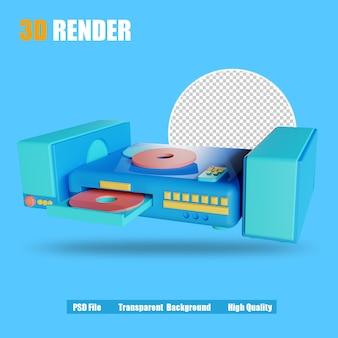 3d render icon dvd-player