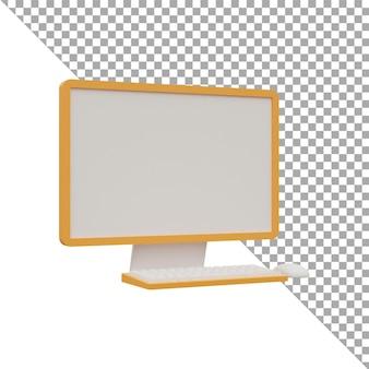 3d-render-illustration symbol computer