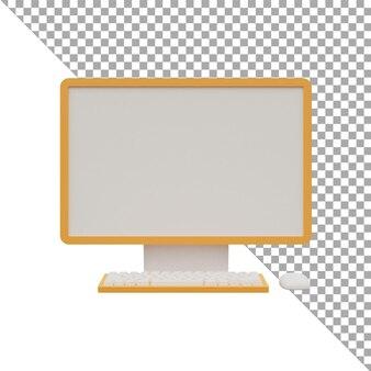 3d-render-illustration symbol computerfront