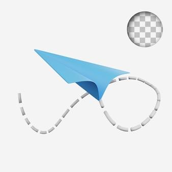 3d-render-konzept-technologie-symbol papierflugzeuge