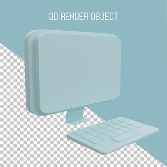 3d-render-monitorsymbol
