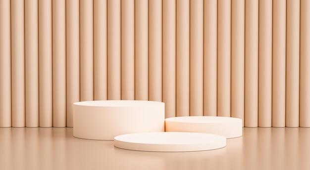 3d-render-podium und minimaler abstrakter hintergrund mit wandszene