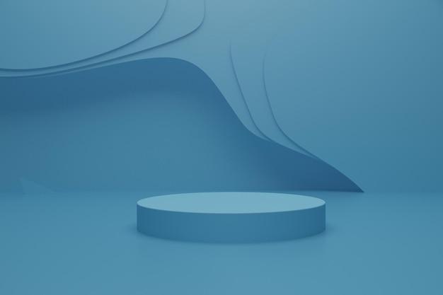 3d-render-podiumsszene auf dem boden für die produktpräsentation