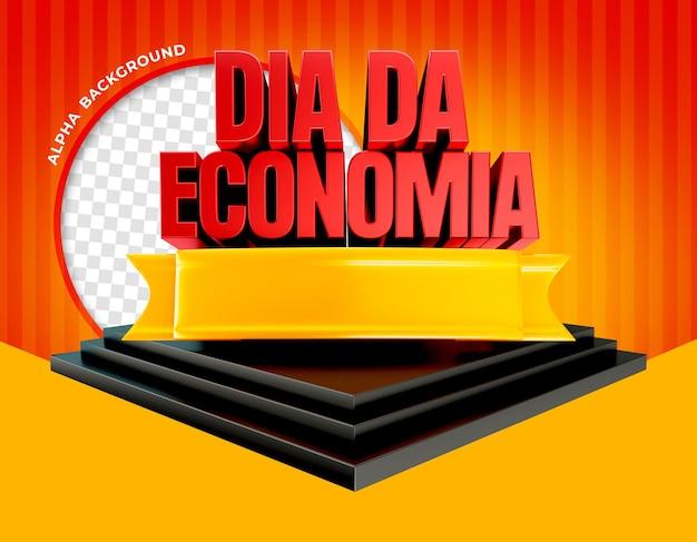 3d-render-promotion-tag auf dem podium in brasilien