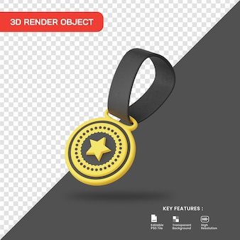 3d-render-stern-medaillensymbol