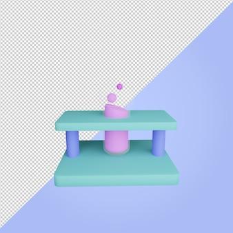 3d-render-symbol für die bildung von reagenzgläsern