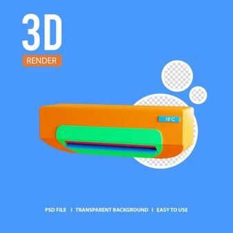 3d-render-symbol klimaanlage