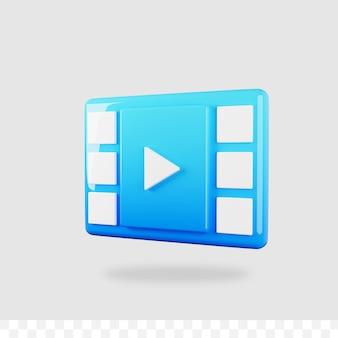 3d-render-videowiedergabe-schaltfläche