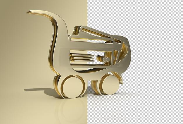 3d-render-warenkorb-symbol transparente psd-datei
