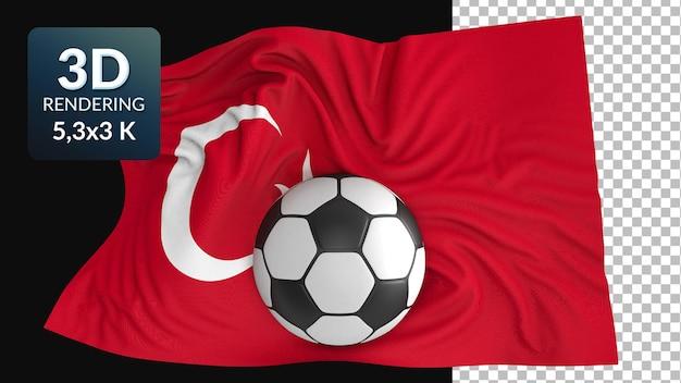 3d render weltflagge fußball fußball