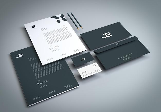 3d-renderer identity branding stationery mockup