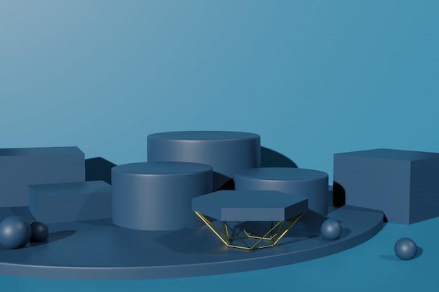 3d-rendering-bühnenanzeigemodell für szenenersteller