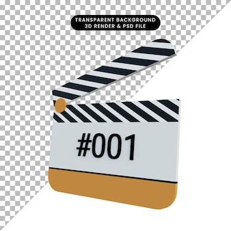 3d-rendering clapper board film nehmen film